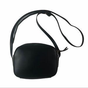 J.Crew Leather Black Crossbody bag Purse mini